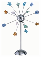 Lite Source LS2614CMULTI Starstruck 33 Inch Tall Multicolored Glass Chrome Finish Table Lamp
