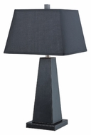 Lite Source LS21133BLKBLK Blakeney 28 Inch Tall Black Finish Contemporary Table Lamp