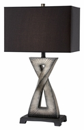 Lite Source LS21881 Raphaela 29 Inch Tall Modern Brushed Dark Gold Finish Table Lamp With Black Shade