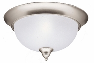 Kichler 8064NI Dover 2 Light 13 Inch Flushmount Ceiling Fixture