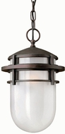 Hinkley 1952VZ Reef 1 Light Outdoor Pendant Fixture in Victorian Bronze