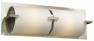 PLC 936 Ibex 2 Light Contemporary Vanity Light with Matte Opal Glass