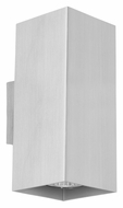 EGLO 87019A Madras 7 Inch Tall Aluminum Finish Contemporary Sconce