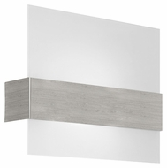 EGLO 86997A Nikita Large 14 Inch Wide Satin Glass Modern Wall Sconce Lighting