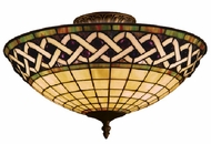 ELK 937-CB Angel Wing 3 Light Tiffany Semi Flush Ceiling Fixture