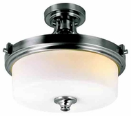 Trans Globe 7925 Young and Hip Corner II Contemporary Semi-Flush Ceiling Light