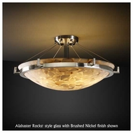 Justice Design 9681 Ring 18  Round Contemporary Semi-Flush Ceiling Light