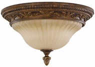 Feiss FM253-ATS Sonoma Valley 2-light 8 inch Aged Tortoise Shell Flushmount Ceiling Light