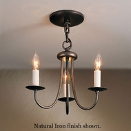 Hubbardton Forge 10-1130 Simple Sweep 3-Light Candle Mini-Chandelier