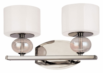 Troy B2852PN Fizz 14 Inch Wide Polished Nickel Modern Vanity Lighting With Colored Glass - TRO ...
