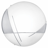 EGLO 89758A Raya Chrome & Satin 12 Inch Diameter Transitional Wall Lighting