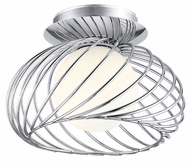 EGLO 91166A Thebe Semi Flush Mount Chrome Finish 7 Inch Diameter Ceiling Lighting Fixture