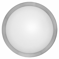 EGLO 87328A Arezzo Small Matte Nickel 11 Inch Diameter Circle Wall Sconce Light Fixture