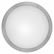 EGLO 87329A Arezzo 13 Inch Diameter Transitional Matte Nickel Large Circle Wall Light