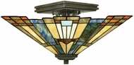 Quoizel TFIK1714VA Inglenook Tiffany Semi-Flush Ceiling Light