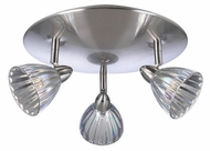 PLC 3553-SN Escudo 3-Light Flushmount Ceiling Light