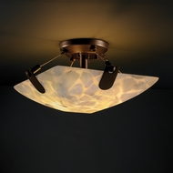 Justice Design 9610 U-CLIPS Semi-flush 14  Round or Square Bowl Ceiling Light with Variety of Shapes and Shade Options