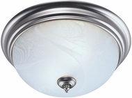 Philips F6011-36 Finishing Touch Satin Nickel/Alabaster Flushmount - 13 inches wide