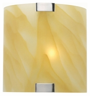 Lite Source LS1395L/AMB Nimbus Contemporary Light Amber Glass Wall Sconce Light Fixture