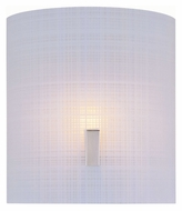 Lite Source LS1693PS/FRO Nimbus II Frosted Woven Pattern Glass Wall Sconce Light Fixture