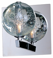 ET2 E24250-91PC Orb Bubble Glass 6 Inch Tall Contemporary Wall Sconce Lighting Fixture