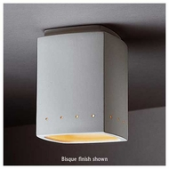 Justice Design 6115 Radiance Flush-Mount Rectangle w/ Perforations Ceiling Lamp