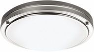 Philips F2451-36N1 West End Contemporary Fluorescent Satin Nickel Flushmount - 13.5 inches wide