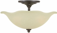 Feiss SF212-GBZ Morningside 2-light 13 inch Semi Flush Ceiling Light in Grecian Bronze