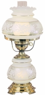 Quoizel SL702G Satin Lace Accent Hurricane Lamp in French Gold Flemish