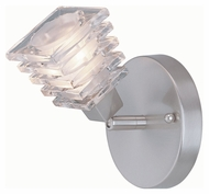 Lite Source LS16641PS/CLR Avis 6 Inch Tall Contemporary Wall Light Sconce - Polished Steel