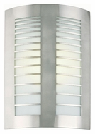 Lite Source LS1649PS/FRO Graf Polished Steel 15 Inch Tall Transitional Wall Light Fixture