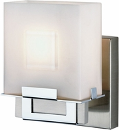 Philips F4420-36 Square Contemporary Halogen Satin Nickel/Chrome Wall Sconce F4420-36 NV