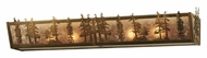 Meyda Tiffany 130857 Antique Copper Silver Mica Rustic Pine Scenery Vanity Light Fixture
