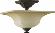Feiss SF236-ORB American Foursquare 11 inchsq Oil Rubbed Bronze Semi-Flush Mount Ceiling Light