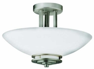 Kichler 3674NI Hendrik Semi-Flush Ceiling Light in Brushed Nickel