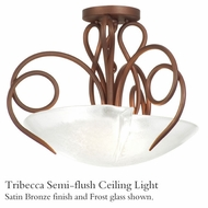 Kalco 4288 Tribecca Glass Sem-Flush Light