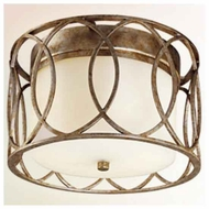 Troy C1280 Sausalito Wrought Iron Flush-Mount Ceiling Light