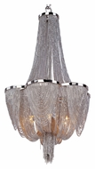 Maxim 21464NKPN Chantilly 22 Inch Tall Crystal Single Tier Hanging Chandelier