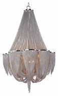 Maxim 21466NKPN Chantilly 12 Lamp Crystal Polished Nickel Finish 43 Inch Diameter Chandelier Light Fixture