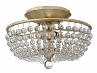 Fredrick Ramond 43751SLF Caspia Three-light Semi Flush Mount Ceiling Lighting
