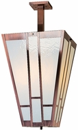 Arroyo Craftsman AIH-16 Asheville Craftsman Semi-Flush Foyer Ceiling Light - 32.5 inches tall