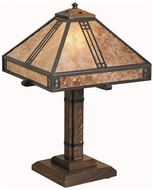 Craftsman Table and Floor Lamps