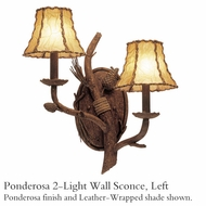 Kalco 3033 Ponderosa 2-Light Wall Sconce, Left