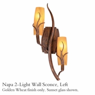 Kalco 4763gw Napa 2-Light Wall Left-Side Sconce