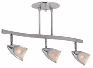 Access 52030-BS Comet Semi-Flush Ceiling Light in Brushed Steel - 21 inch