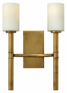 Hinkley 3582VS Margeaux 2 Lamp Modern 12 Inch Wide Sconce Lighting - Vintage Brass