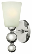 Hinkley 3440PN Zelda Modern Polished Nickel 11 Inch Tall Wall Light Sconce