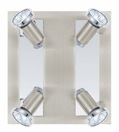 EGLO 200093A Rottelo 4 Lamp Matte Nickel Ceiling Spotlight Fixture - LED