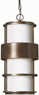 Hinkley 1902MT Saturn 1 Light Outdoor Pendant in Metro Bronze