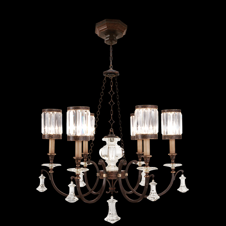 Fine art lamps 584240 eaton place tall 6 light crystal shade traditional chandelier lighting loading zoom